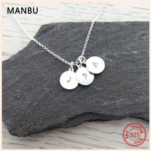 MANBU New arrival personalized necklace 925 sterling silver for women custom necklace engraved 3 names trendy jewelry for gift manbu personalized custom superman necklace sterling silver chain necklace for women men jewelry anniversary gift free shipping