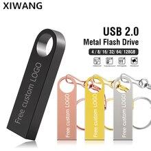 Metal u disk USB Flash Drive 128gb flash memory stick 64gb Pendrive 16gb 32gb High Speed USB 2.0 Pen Drive 8gb Free custom LOGO стоимость
