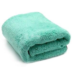 Image 3 - Chiffon de luxe en microfibre Super doux, 50x70cm/38x30 cm/1400g/m2, séchage de la cire de lavage de voiture