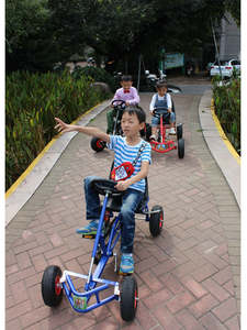 Tyre-Pedal Go-Karts Kids 4-Wheeled Rubber Exercise Children 12inch