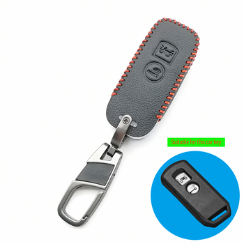 Motor Scooter 100% Leather Key Case Cover For Honda 2018 PCX150 X-adv SH125 Scoopy SH300 Forza 125 Intelligent 2 Buttons Remote image