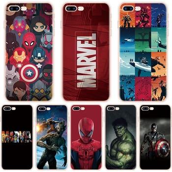 Marvel Avengers Heros Phone Case For iPhone X XR 11 Pro XS Max 7 8 6 6S Plus 5 5S SE  7Plus