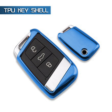 Nice Touch car key set case fob TPU keychain For Volkswagen VW MK2 Magotan(2017-2018) New CC (2019) B8 Variant(2016~2018) Ring(China)