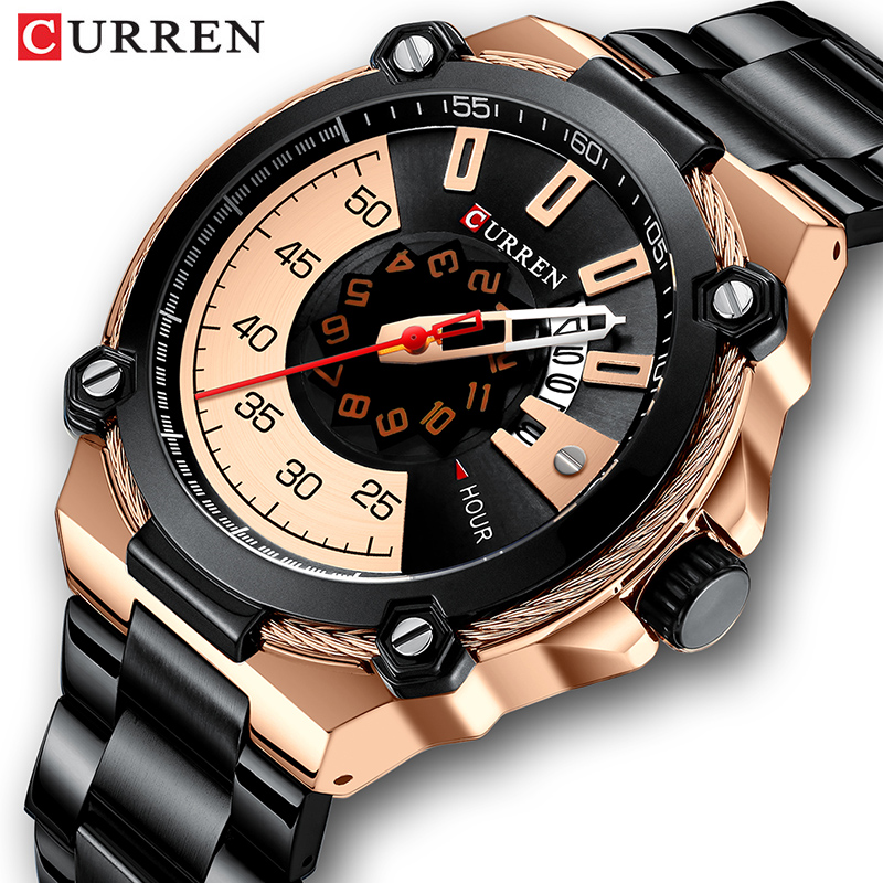2019 New CURRENT Men's Quartz Watch Sport Military Army Men Watches Business Wristwatch Waterproof Man Clock Relogio Masculino