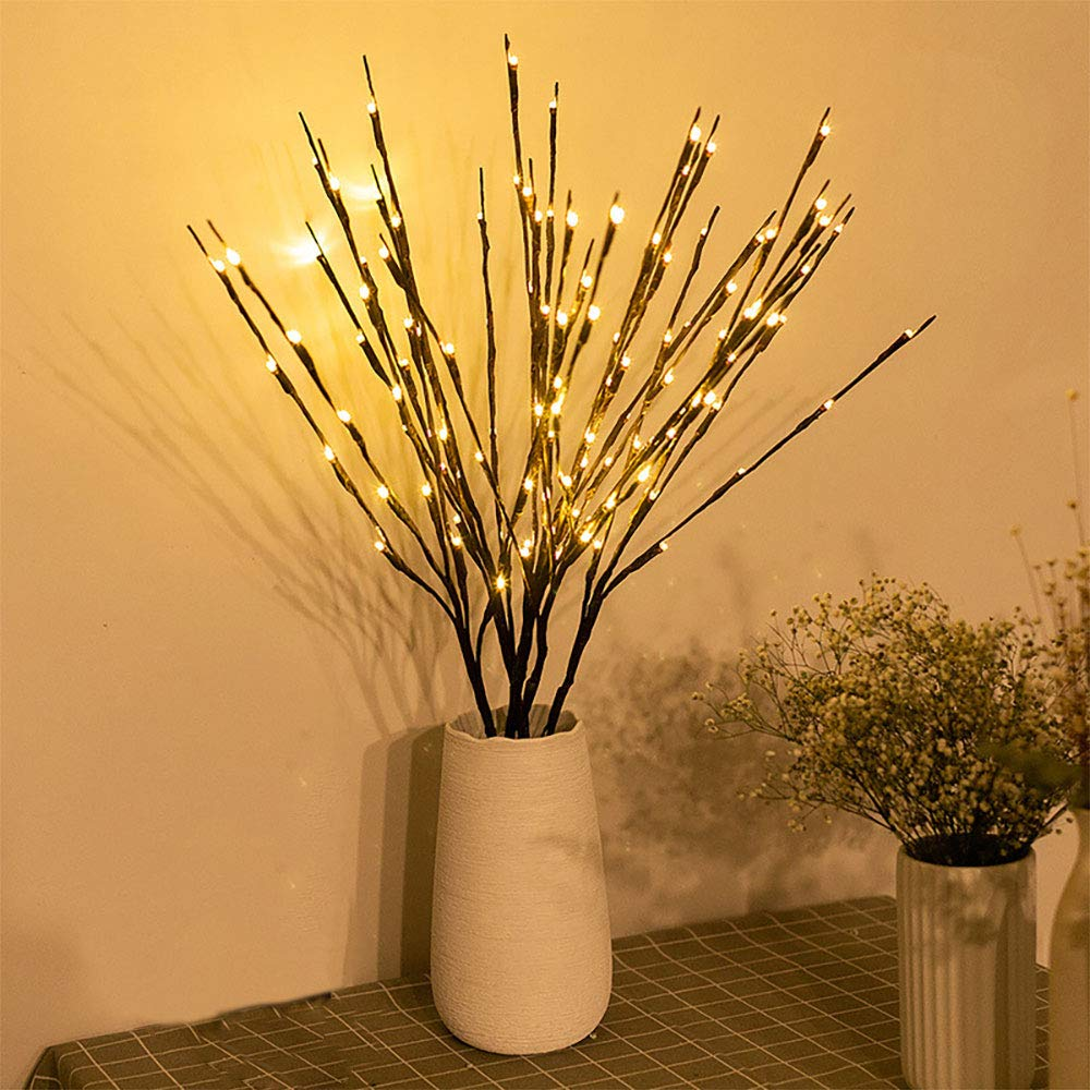 LED Willow Branch Lamp Rose Simulation Orchid Branch Lights Tall Vase Filler Willow Twig Lighted Branch For Home Decoration