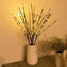 LED ווילו סניף מנורת רוז סימולציה סחלב סניף אורות אגרטל גבוה מילוי ענף ערבה מואר סניף עבור עיצוב הבית