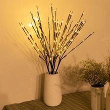 Lampada a ramo di salice a LED simulazione di Rose ramo di orchidea luci vaso alto riempitivo ramoscello di salice ramo illuminato per la decorazione domestica