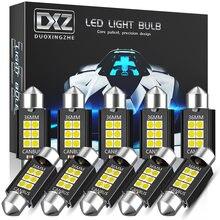 Dxz 10 pces canbus festão 31mm 36mm 39mm 41mm c5w c10w lâmpadas led 3030 6smd carro interior mapa dome luzes de leitura 12v/24v lâmpada auto