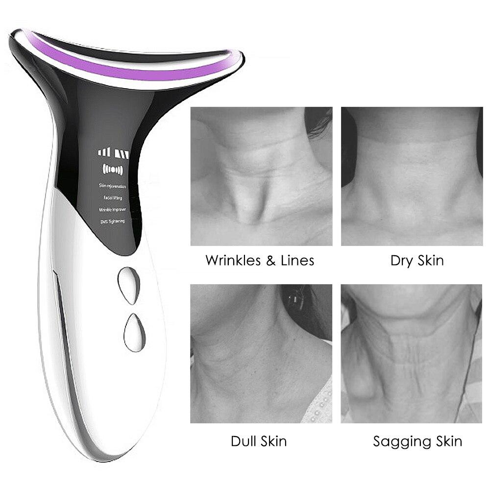 Извлеките двойной подбородок, шея устройство светодиодный фотон подогревающим эффектом анти-морщинки, смягчающий уход за кожей Инструмент...