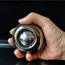 Bola de metal para treinamento muscular, bola giroscópica com luz de led para treinamento, fortalecimento automático, com bolsa f2039