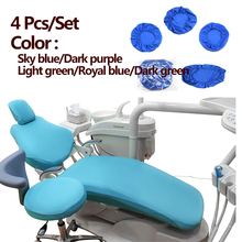 Orthdent 4 Pcs/Sit Dental Chair Cover Unit Cover Cloth Dentist Chair Protector Sleeves Washable Dentist Headrest Cushion