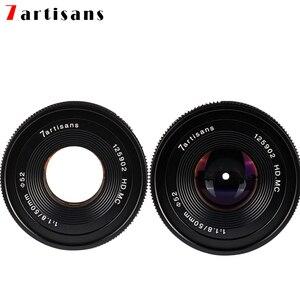 Image 4 - 7artisans 50 мм F1.8 ручной объектив для камеры Canon EOS M A7 A7II A7R Sony E Mount Fuji FX Macro MFT/ M4/3 Mount Бесплатная доставка