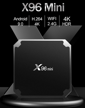цена на X96 mini Smart Android 9.0 TV BOX 1G/2G 8G/16G Amlogic S905W Quad Core H.265 4K 2.4G WiFi Media Player X96mini Set top box