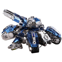 Metall DIY Montiert Modell Kleber-freies 3D Puzzle Modell Siege Tanks Farbe Version