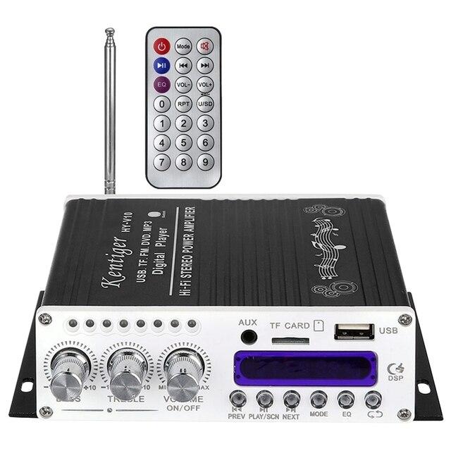 Kentiger V10 усилитель Bluetooth Hi Fi класс Ab стерео супер бас аудио усилитель мощности автомобиля старшее Экранирование Встроенный канал