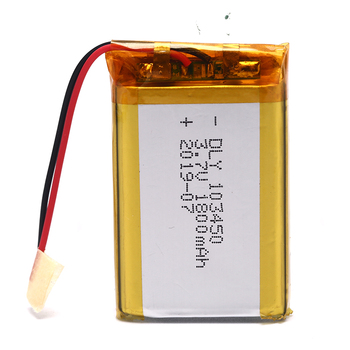 1PC 3.7V 1800mAh Li-Po Rechargeable Battery 103450 For DVD GPS PDA Headphone image