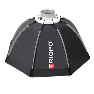 Image 3 - Triopo 65 Cm Draagbare Bowens Mount Octagon Umbrella Softbox + Draagtas Voor Foto Studio Flash Outdoor Fotografie Soft Box