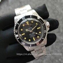 40mm Men's Watch 1960 Automatic Mechanical Strap Black Dial Retro Style Men's Watch Old Antique