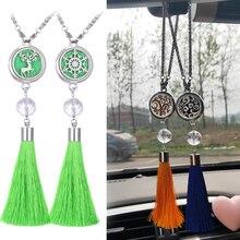 Aromatherapy Car Diffuser Pendant Jewelry Snowflake Elk Tassel Essential Oil Locket Christmas Gift