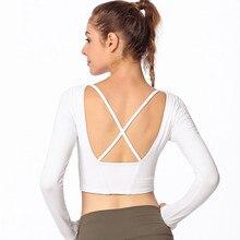 New Sports Wear for Women Yoga Shirt Crop Top Fitness Clothing Running Sport T-Shirts Training Sportswear