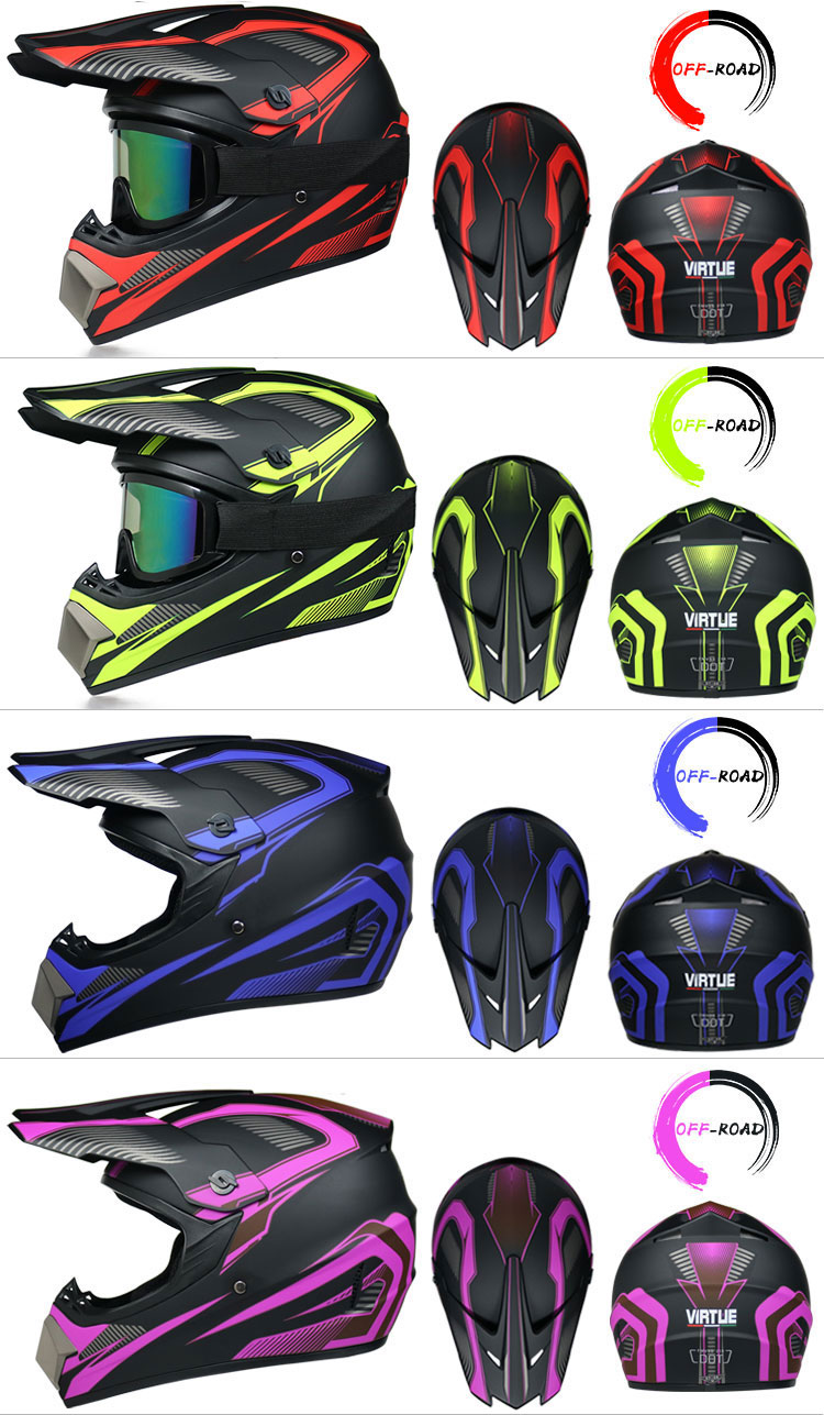 Professional Lightweight Off-road Motorcycle Helmet Racing Bike Children ATV Off-road Vehicle 2