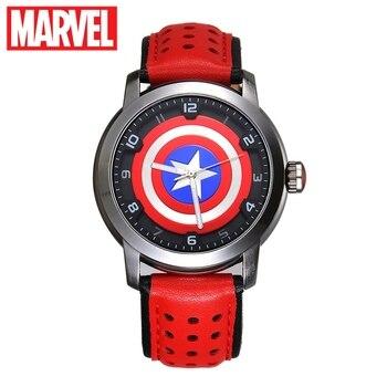 Marvel Avengers Captain America Mannen Fashion Cool Super Hero Sport Horloge Waterdicht Teen Boy Selfdom Tijd Klok Montre Homme Nieuwe-in Quartz Horloges van Horloges op