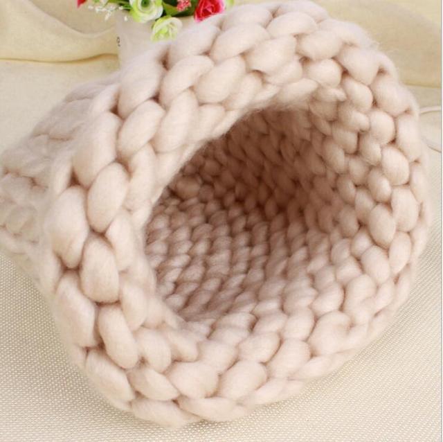Sombrero hecho a mano tejido de punto