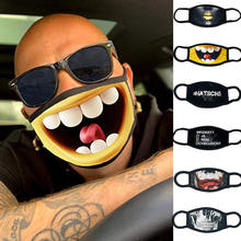 Party-Mask Laughing Cospaly Half-Face-Mouth-Mask Halloween-Decorations Funny Hiphop Cartoon