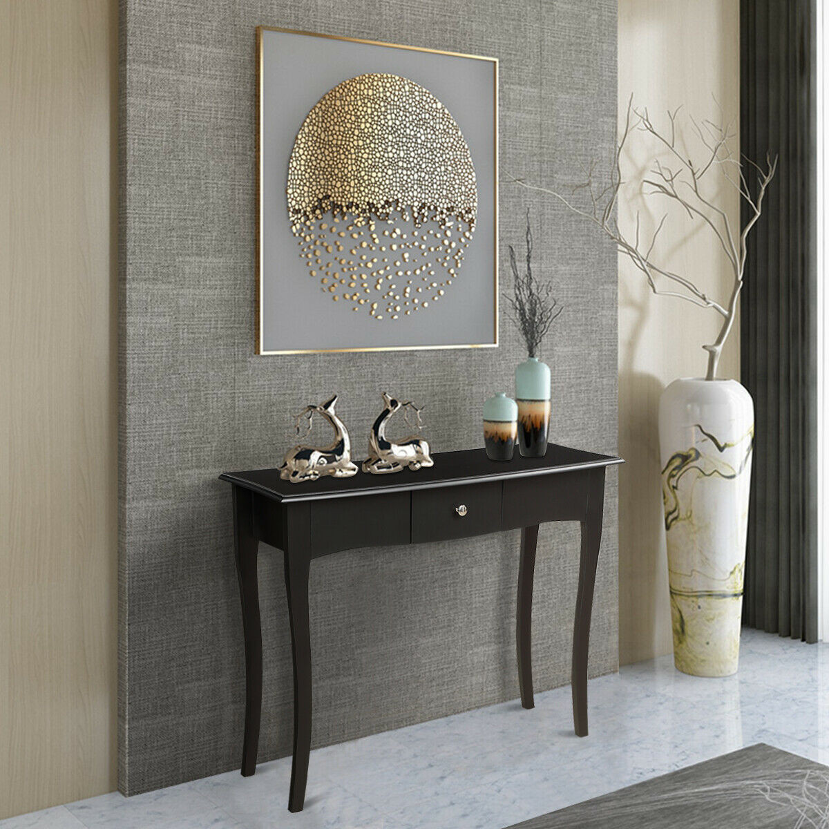Modern Console Table Entryway Table Sofa Table With Drawer Elegant High Quality Acacia Wood Hallway Living Room Table Sofa Tables Aliexpress