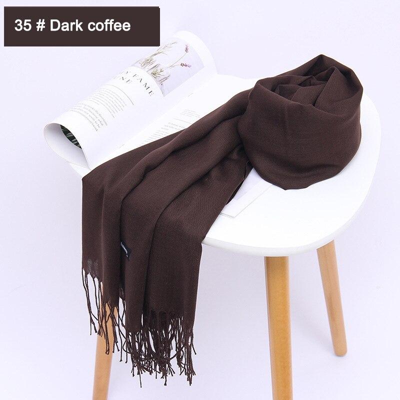 Dark Brown color scarf skinny scarf summer color Plain color scarf
