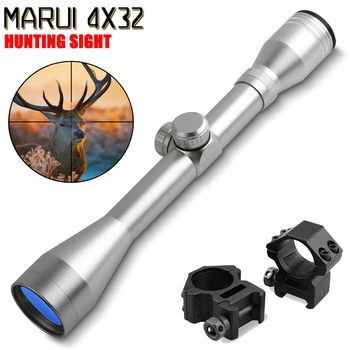 Горячая новинка Marui 4x32 оптический прицел травление стекло тактический прицел Сетка прицел оптика охотничья оптика черная тактическая шестерня