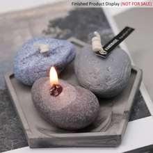 DIY Свечи силиконовые формы булыжника ручной работы ремесло форма для изготовления свечей