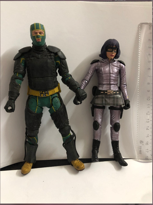 Original NECA Exclusive 6'' DC: Kick Ass And Hit Girl Heroes Action Figure Collectible Model Toy