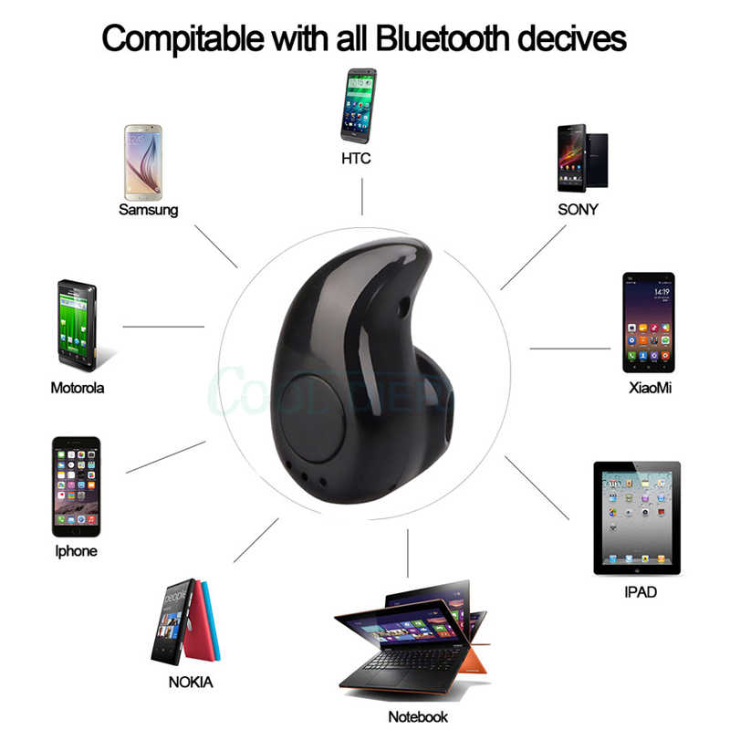 S530 Mini Wireless Bluetooth Earphone Handsfree in Ear headset with Mic Sport running Earbuds Earphones for iPhone Samsung