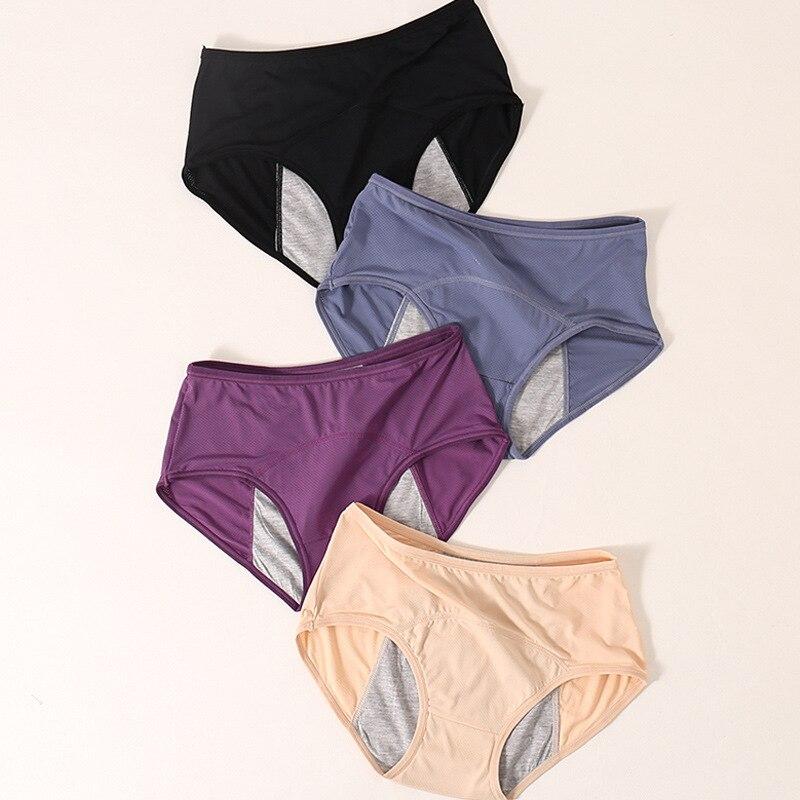 3pcs Leak Proof Menstrual Panties Physiological Pants Women Underwear Period Cotton Waterproof Briefs Dropshipping