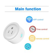 Umps-Ws02 S mart Plug Wifi Smart Socket Power Monitor Outlet Works With Google Home Mini Alexa IFTTT Time Control Remote