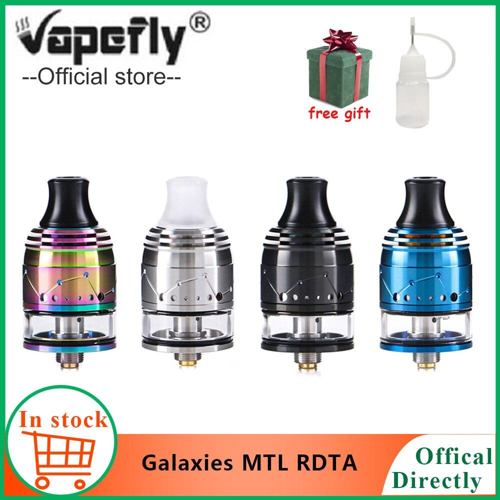 Freies geschenk Vapefly Galaxien MTL Squonk RDTA mit Firebolt Baumwolle 2ml kapazität 22mm MTL RDTA Top-füllung /unteren E Zigarette Vape