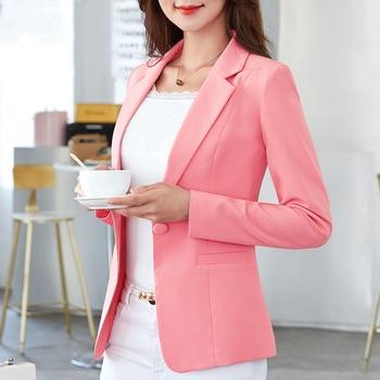 Autumn Fashion Women's Coat Black Blazer Woman Female Slim Pink Blue Women's Jackets For Women Blazers For Women Formal 1