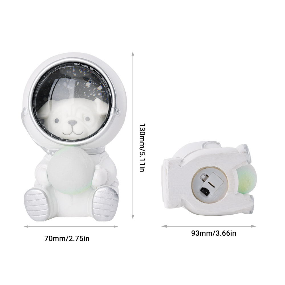 Image 3 - Cute Cat Dog LED Night Light Astronaut Moon Lamp Decor Bedroom Baby Room Bedside Lamp Birthday Christmas Gifts for Kids Children-in Night Lights from Lights & Lighting