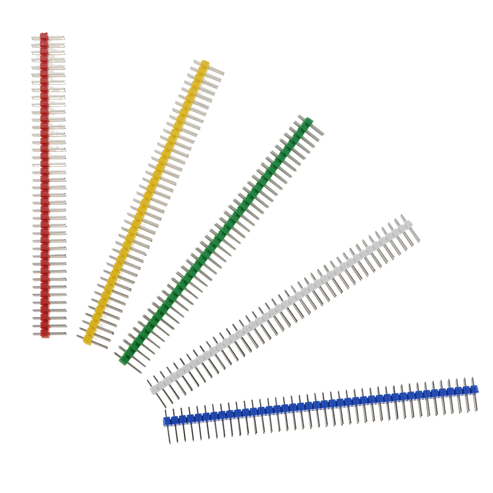 5PCS 3A 2X40 Pin Double Row Male 2.54MM Pitch Pin Header Connector Strip 2X40PIN 2*40 40P For PCB Board Breakable