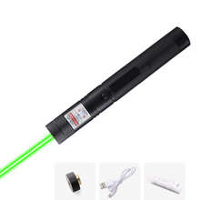 Hight Powerful USB Green Laser pointer Built-in battery red Laser Sight 10000m 5mw Adjustable Focus Lazer lasers 303 pen Burning powerful 5mw lazer pointer pen burning match green laser 303 laser pointe military 532nm choose usb charging or 18650 battery