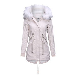 Image 3 - Women Jacket Long Overcoats Winter Warm Thick Female Casual Military Fur Tops Jackets Coats  Dropshipping