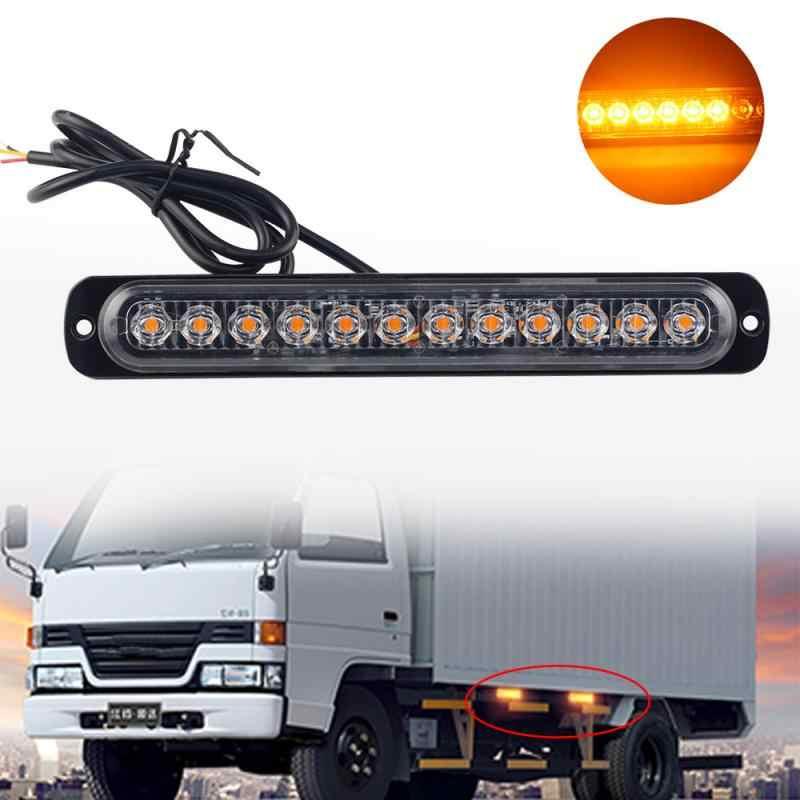 12LED Hổ Phách Mạch Đèn Xe Tải Nguy Hiểm Đèn Hiệu Đèn LED Cảnh Báo Khẩn Cấp 12-24V IPX-4 Mức Chống Thấm Nước Dùng Ban Ngày Ánh Sáng
