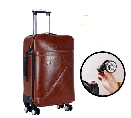 PU Rolling Luggage Suitcase Cabin Business Travel Trolley Bags For Men Luggage Suitcase Bag Wheels Spinner Suitcase Wheeled Bags
