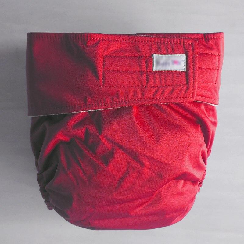 Многоразовые подгузники для взрослых для пожилых людей и людей с ограниченными возможностями, большие размеры, регулируемые термополиуретановые пальто, водонепроницаемая одежда для недержания - Цвет: red
