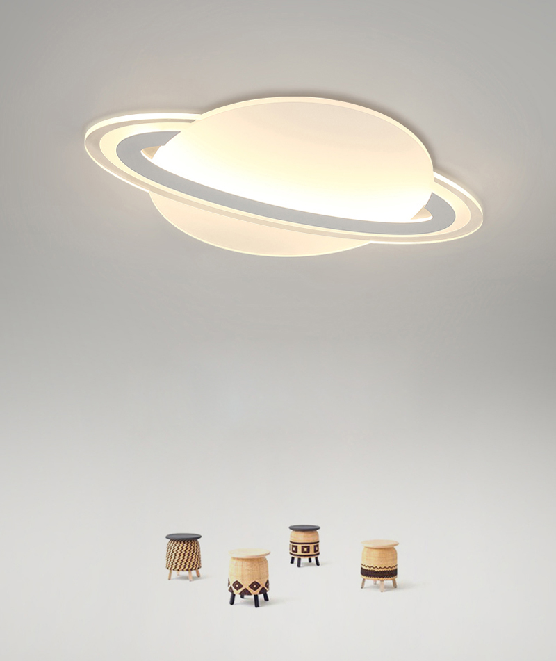 Modern creative LED planet Ceiling light fixture for bedroom learning children's room lighting personality Ceiling light