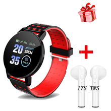 2020 119 Plus Bluetooth Smart Watch Men Blood Pressure Smartwatch Women Watches Smart Band Sport Tracker Smartband For Android