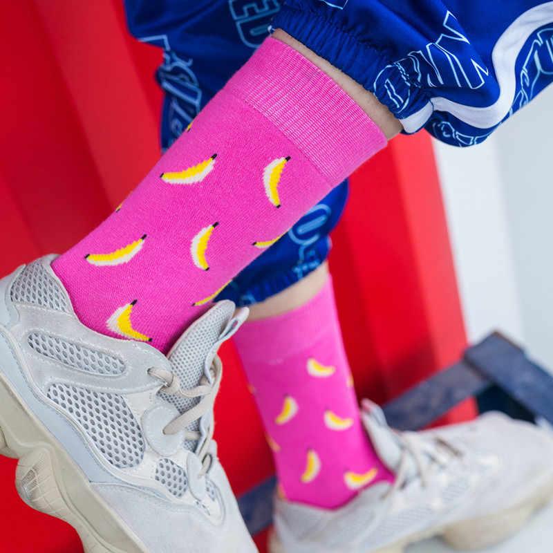 Freddo Cibo Animale Hip Hop Crew Socks Divertente Strada Felice Calze Delle Donne di Harajuku Divertidos Skateboard Chaussette Ms.