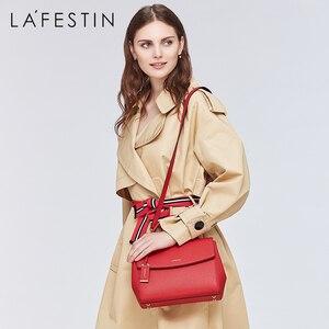 Image 3 - LAFESTIN Soild תיק עור כתף תיק 2018 אופנה נשים מעצב שקיות Crossbody יוקרה מותגי תיק bolsa