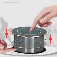 Presa Pop-Up automatica con ricarica Wireless USB presa retrattile nascosta intelligente prese da tavolo impermeabili per ufficio a casa